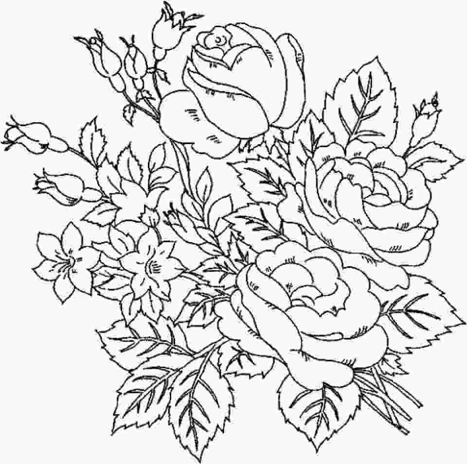 beautiful flower coloring pages 20 free printable roses coloring pages for adults