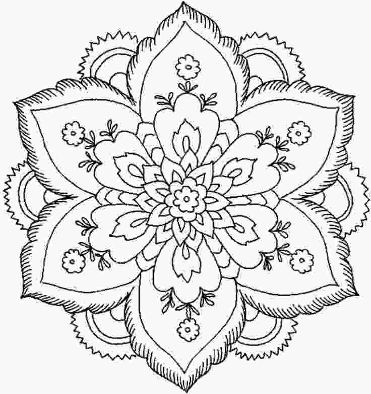 beautiful flower coloring pages beautiful coloring pages for adults download and print