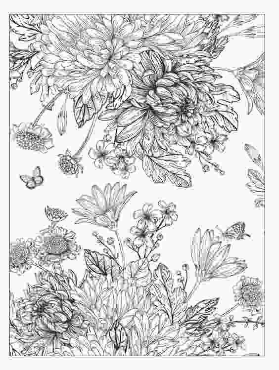 beautiful flower coloring pages beautiful flowers detailed floral designs coloring book 1