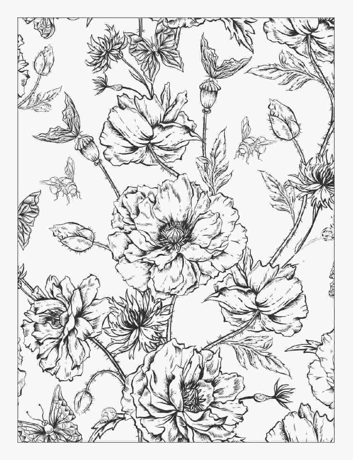 beautiful flower coloring pages beautiful flowers detailed floral designs coloring book 2