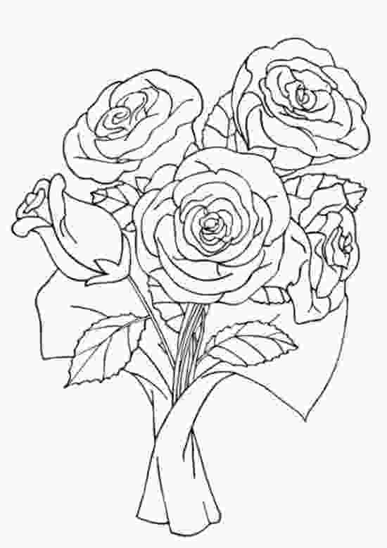 beautiful flower coloring pages beautiful rose coloring pages sketch coloring page