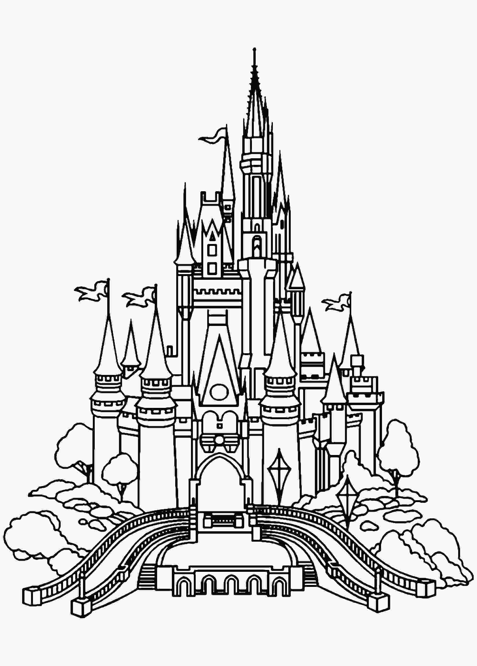 castle coloring page castle coloring pages for adults at getcoloringscom free printable colorings pages