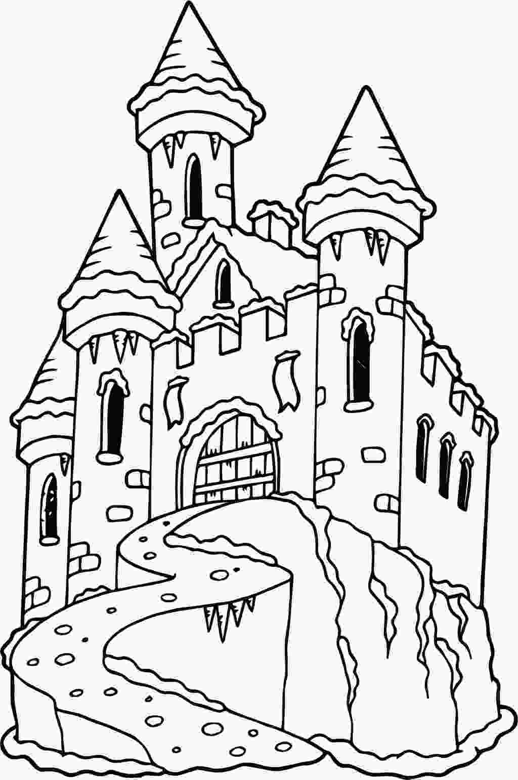 castle coloring page frozen castle drawing at getdrawingscom free for personal use frozen castle drawing