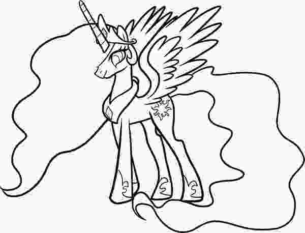 celestia pony coloring page how to draw celestia from my little pony coloring page