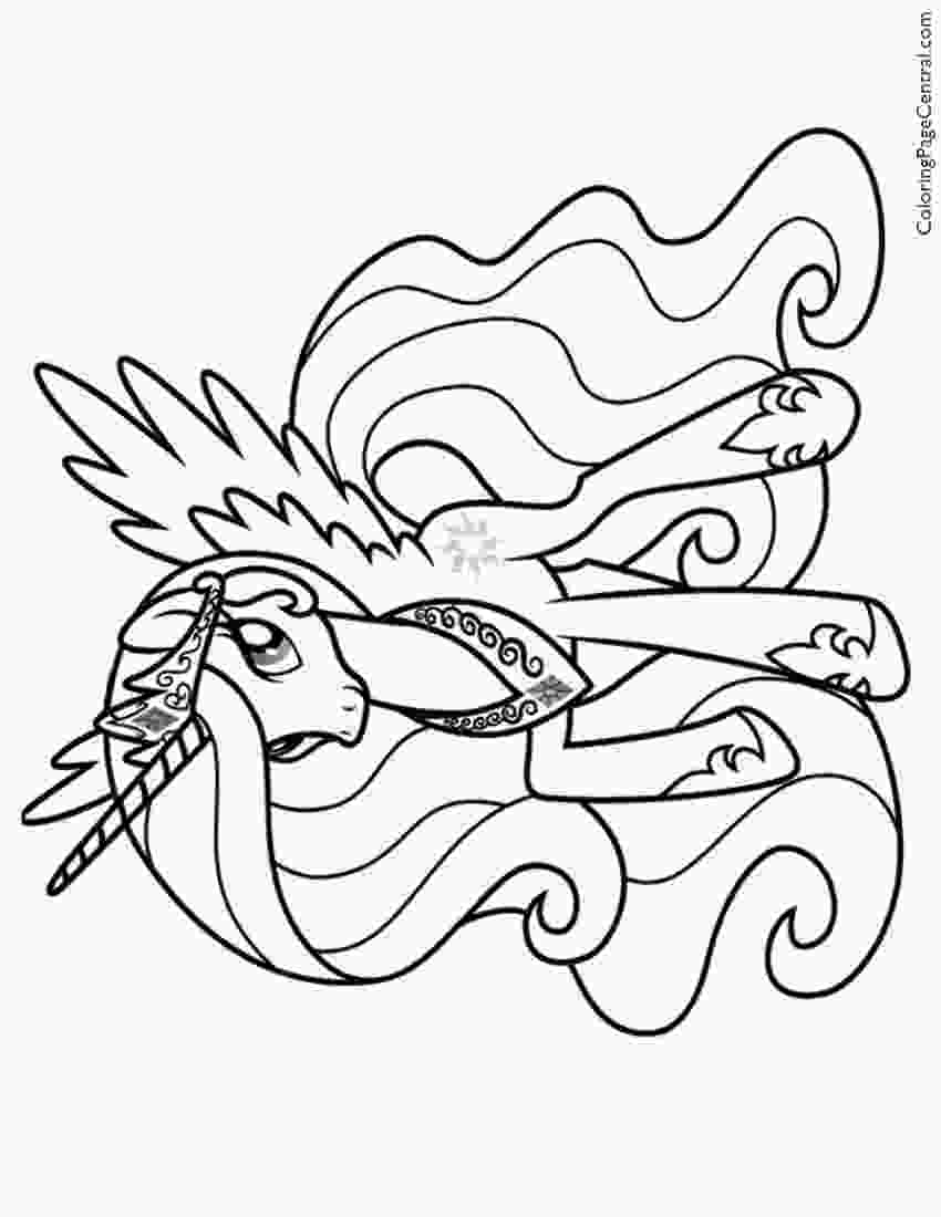 celestia pony coloring page my little pony princess celestia 02 coloring page 1