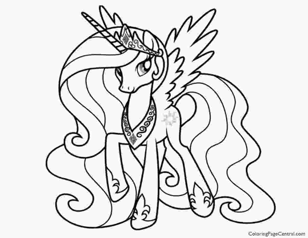 celestia pony coloring page my little pony princess celestia 02 coloring page