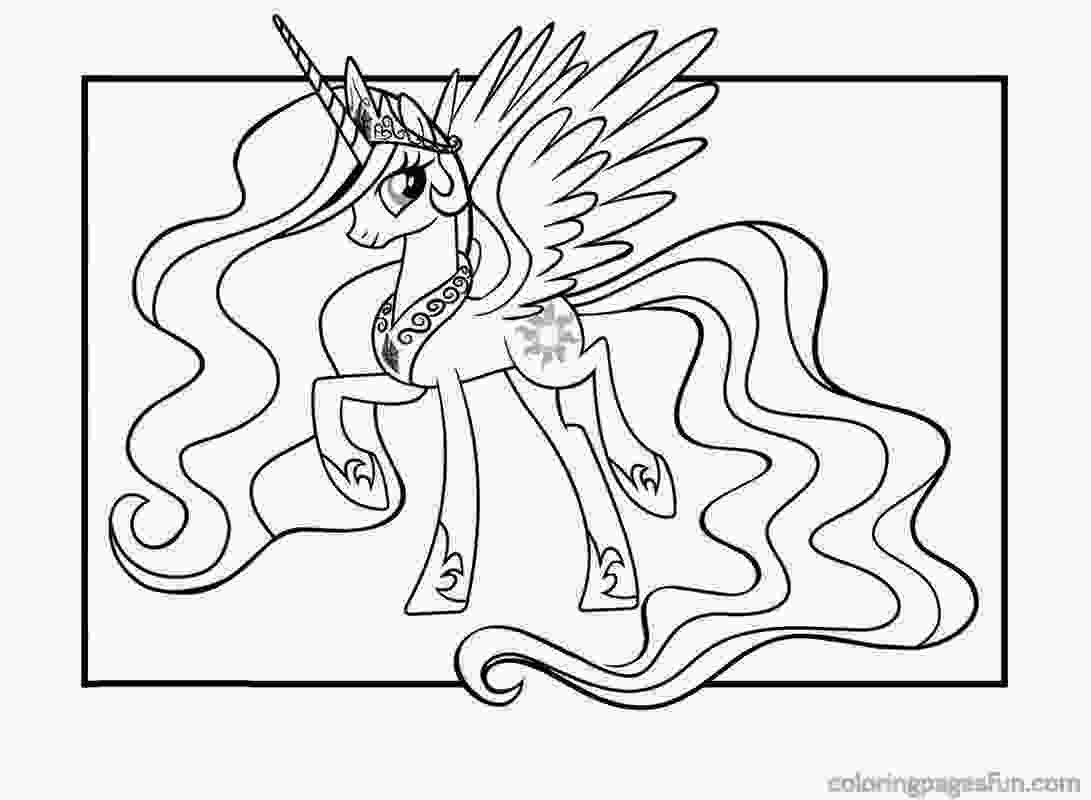 celestia pony coloring page my little pony princess celestia coloring pages for kids