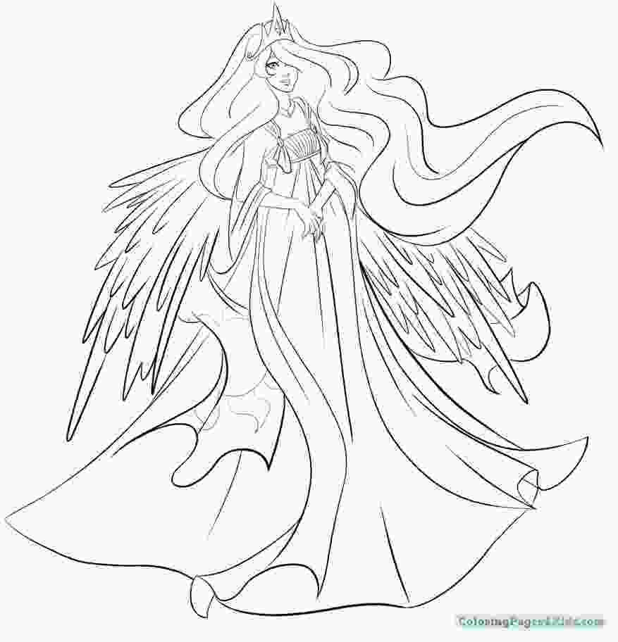 celestia pony coloring page princess luna coloring pages at getcoloringscom free