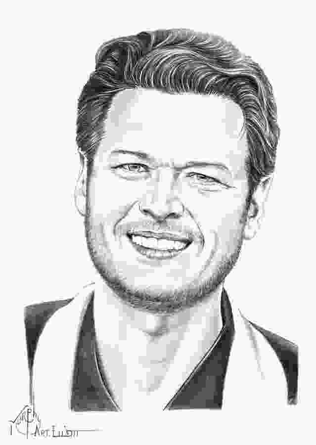 coloring pencil artists blake shelton in 2019 celebrity drawings scratchboard