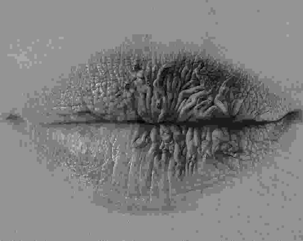 coloring pencil artists surreal pencil drawings of lips by christo dagorov colossal