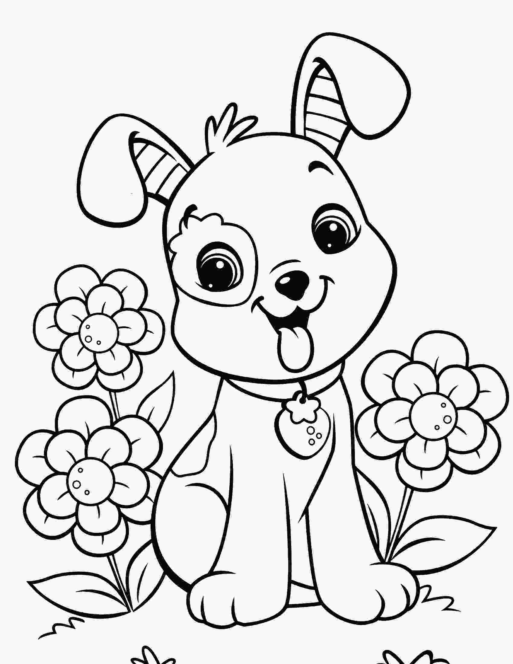 colouring pages of dog cute dog coloring pages to download and print for free
