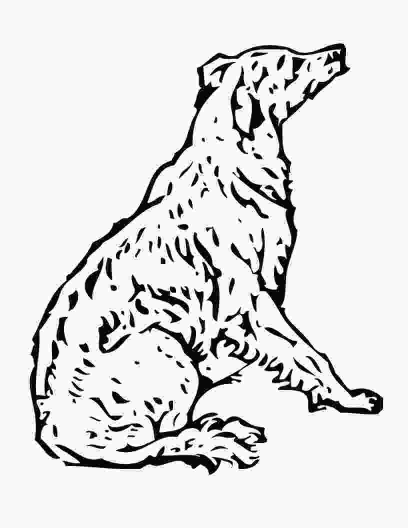colouring pages of dog free printable dog coloring pages for kids 1