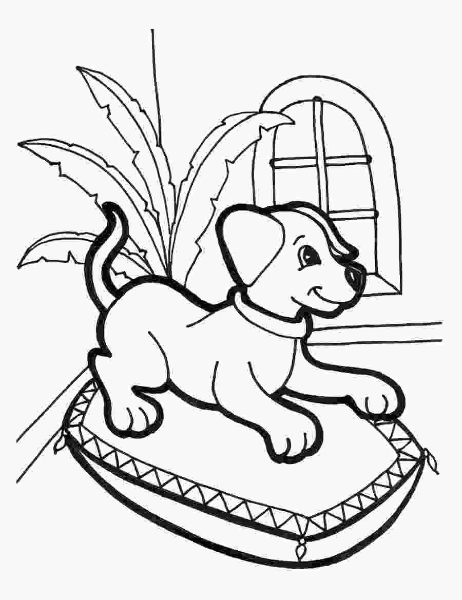 colouring pages of dog free printable puppies coloring pages for kids