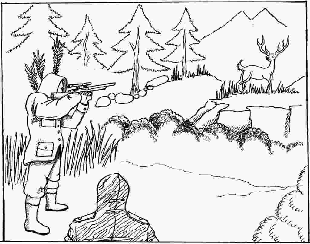 duck hunting coloring pages free printable hunting coloring pages for kids 1