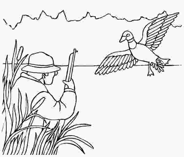 duck hunting coloring pages hunter hunting for duck coloring page coloring sky
