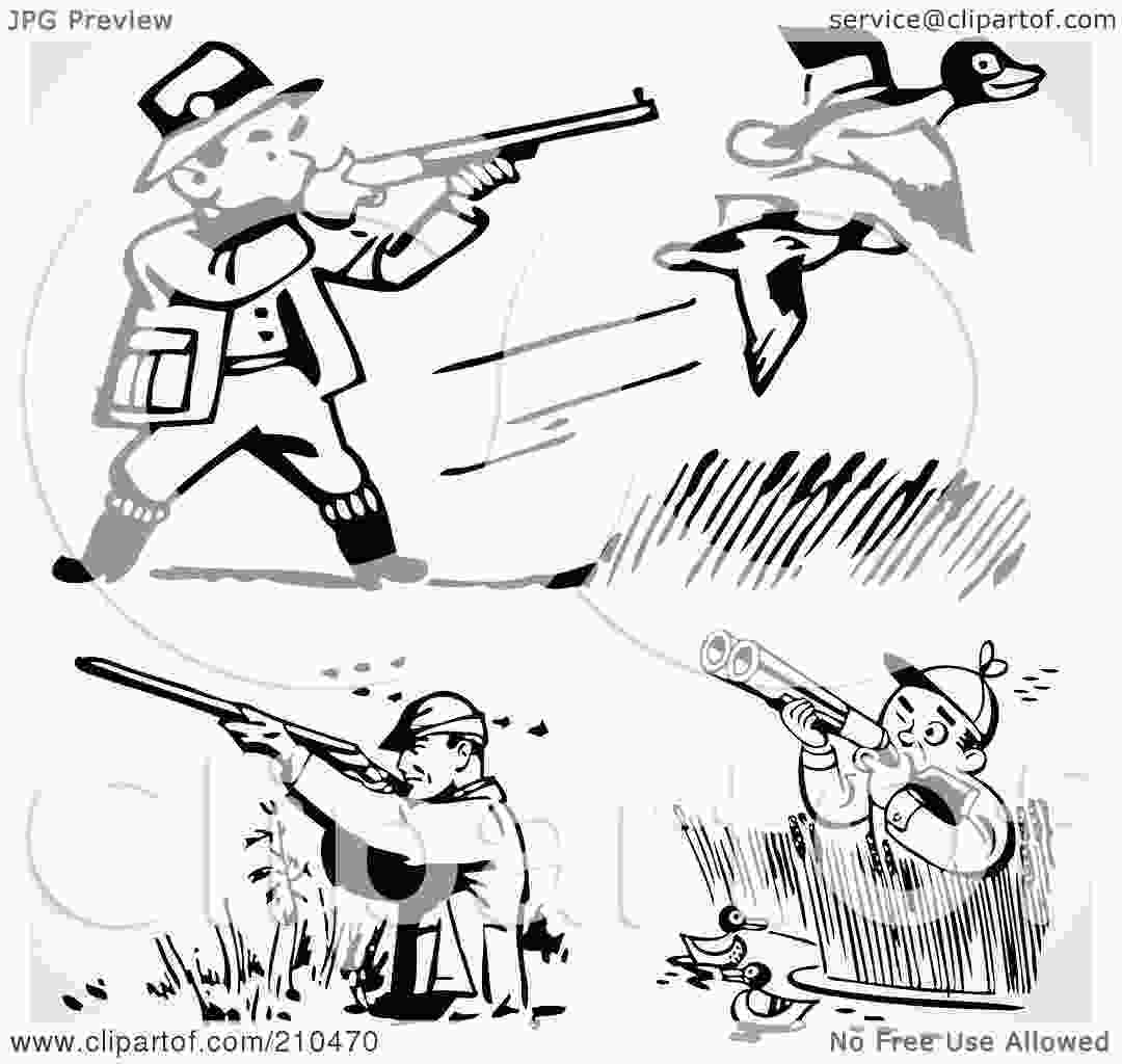 duck hunting coloring pages royaltyfree rf clipart illustration of a digital