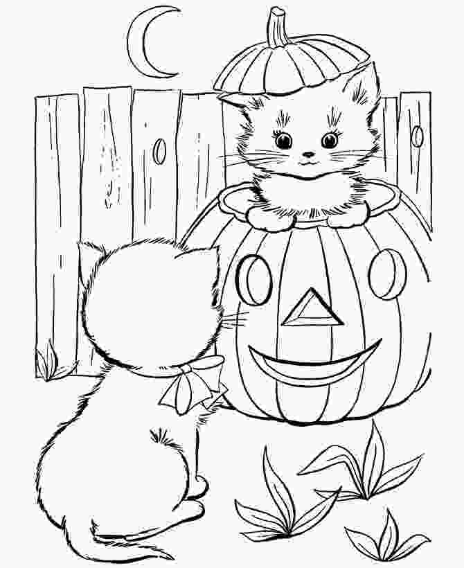 halloween cat coloring pages halloween coloring pages free printable halloween