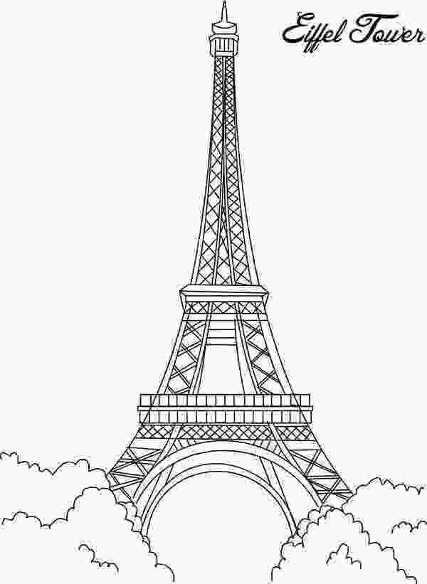 paris coloring pictures eiffel tower eiffel tower is the proud of france coloring