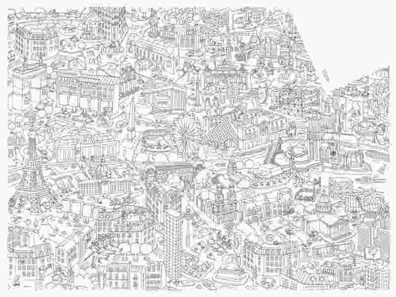paris coloring pictures my paris coloring pocket map by omy buy now