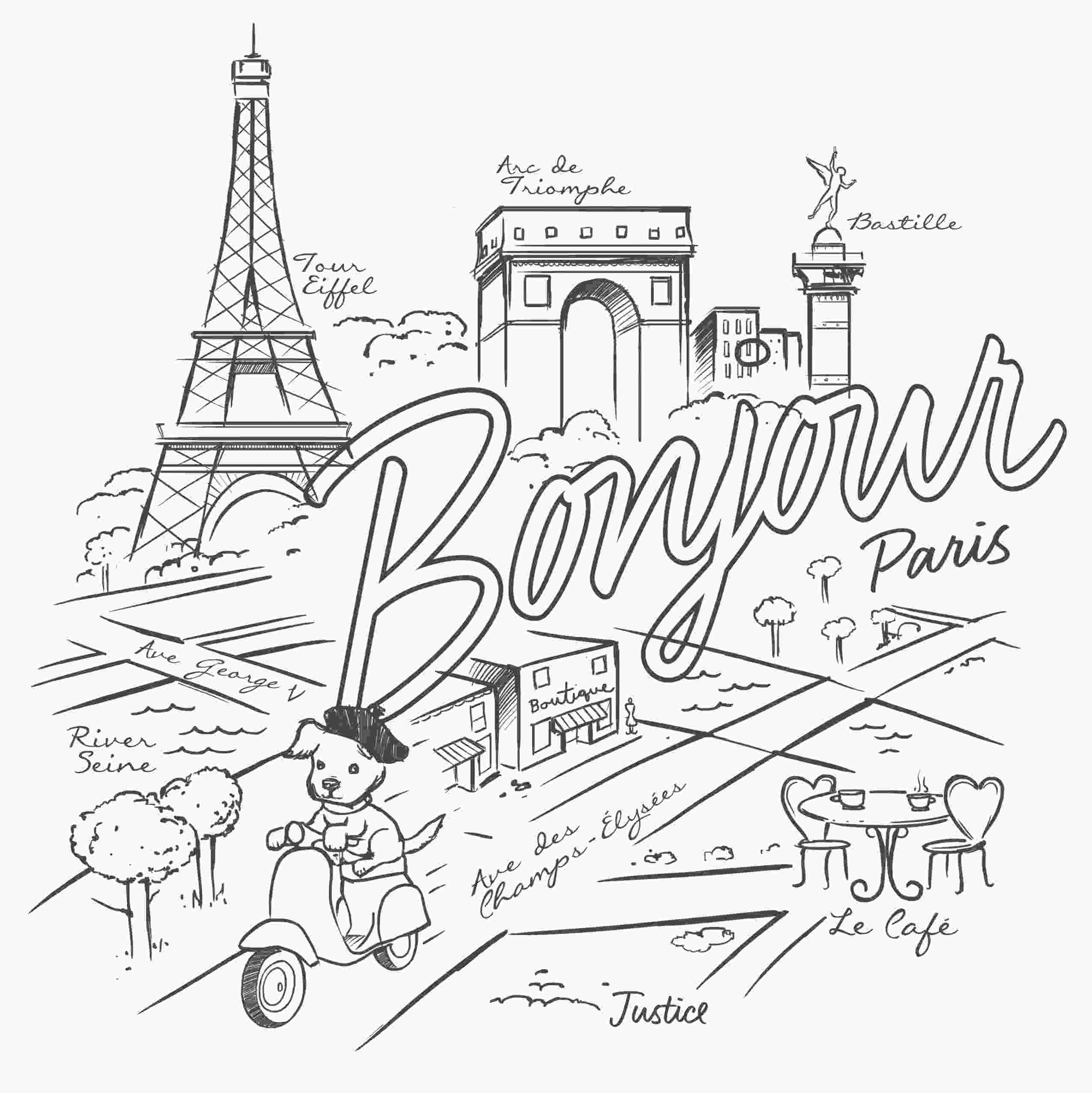 paris coloring pictures paris coloring pages at getcoloringscom free printable