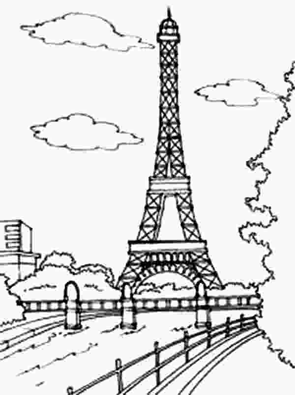 paris coloring pictures paris eiffel tower drawing at getdrawingscom free for