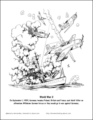 world war 2 coloring pages printable