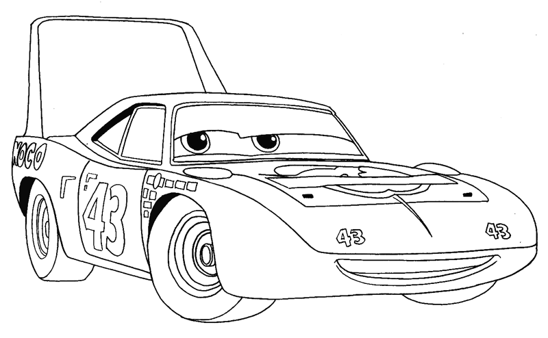 Car sketch for coloring