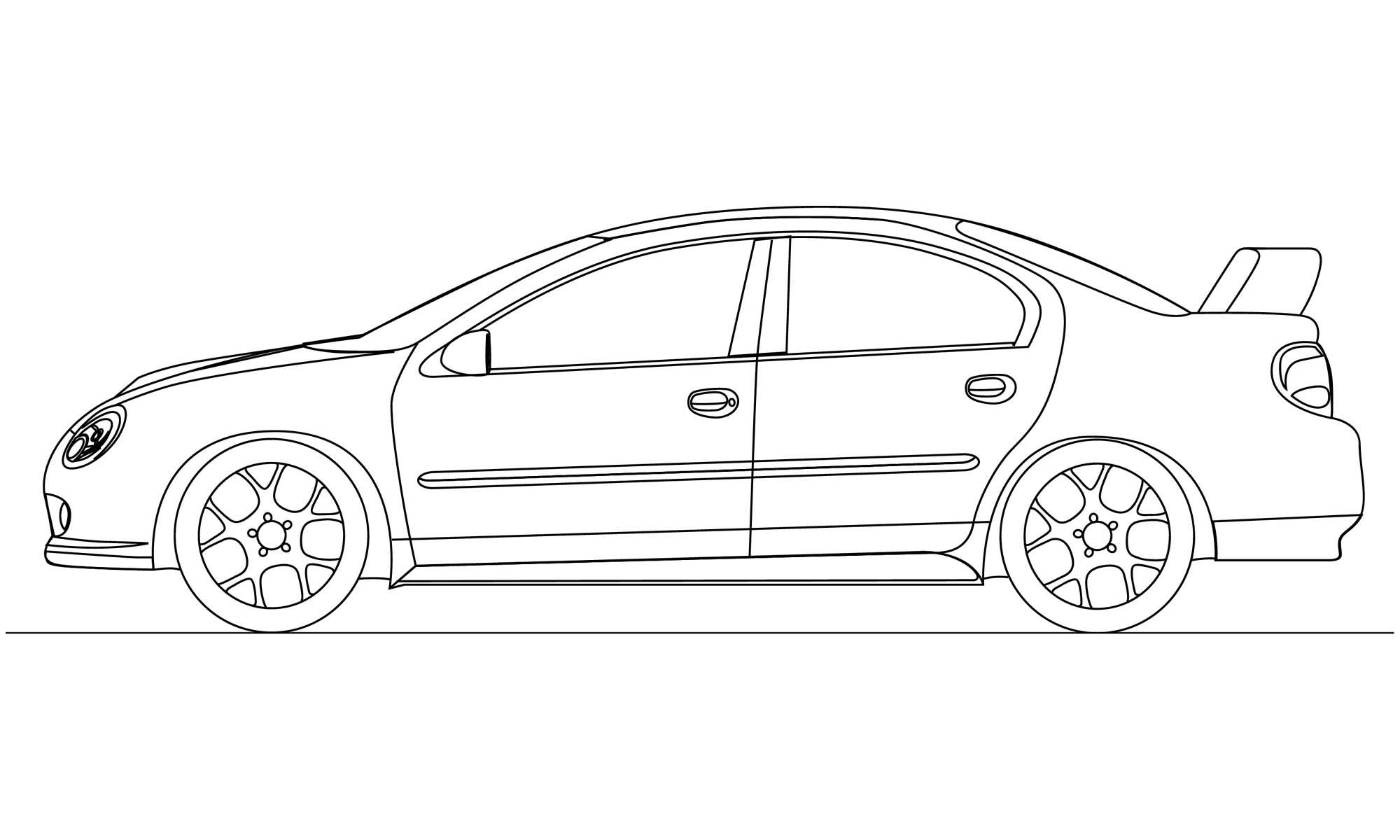 car sketch for coloring car drawing on wallpapergetcom for car sketch coloring