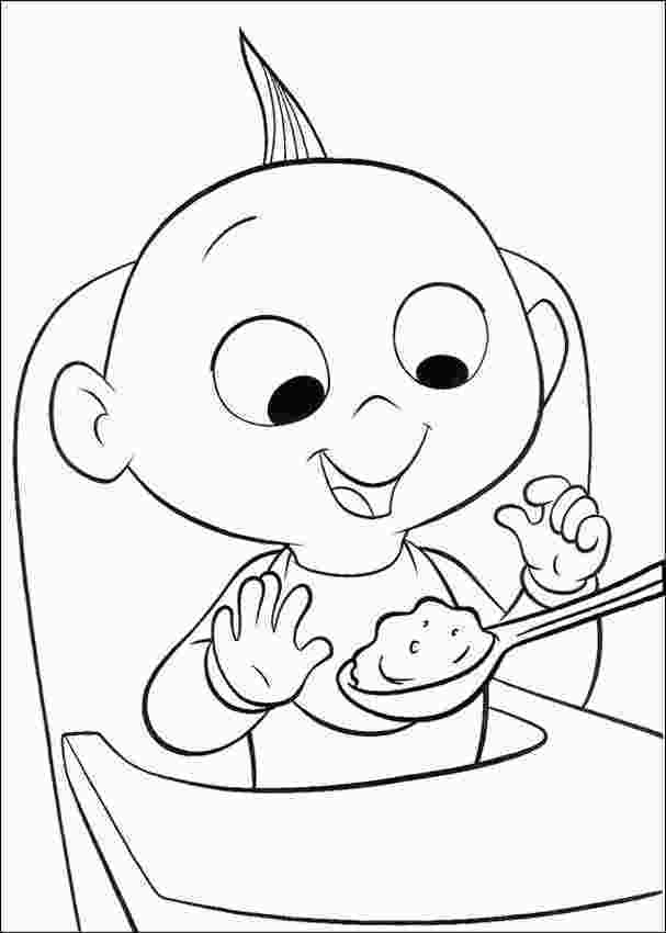 coloring baby jack jack incredibles coloring pages best coloring pages for kids