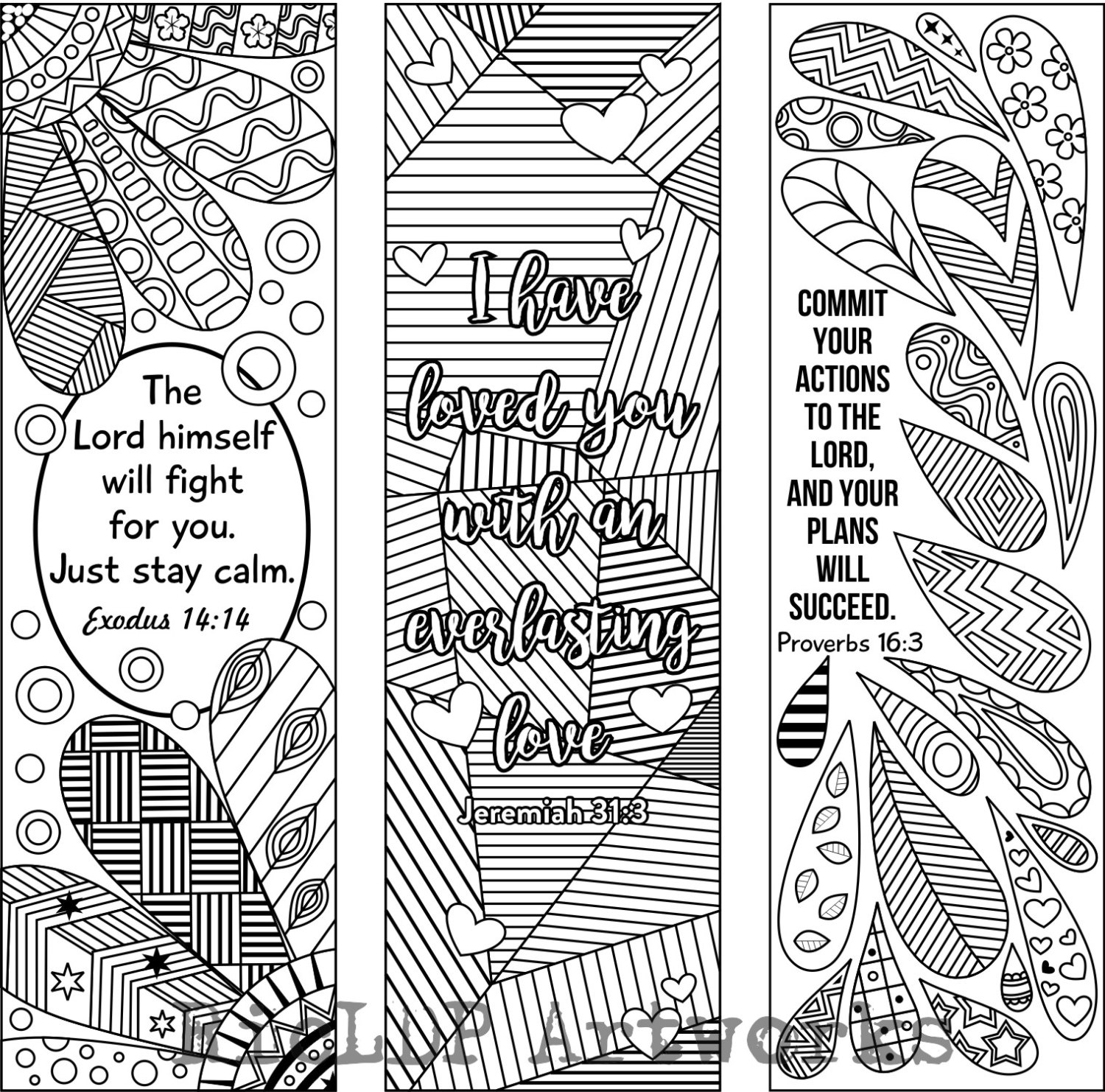 Coloring bible verse bookmark