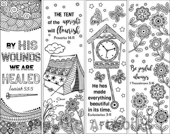 coloring bible verse bookmark five instant printable color in cute bible bookmarks by susyan verse coloring bible bookmark