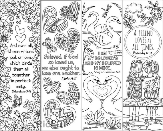 coloring bible verse bookmark set of 8 coloring bookmarks with love bible verses marker bible verse coloring bookmark