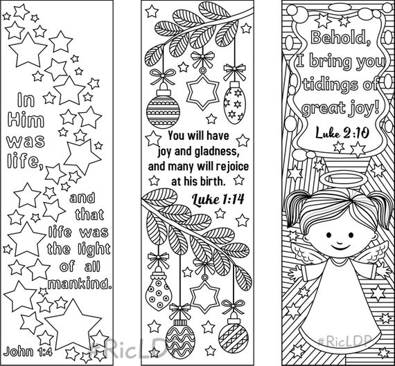 coloring bible verse bookmark set of 9 christmas coloring bookmarks 6 with bible verses and verse bible bookmark coloring