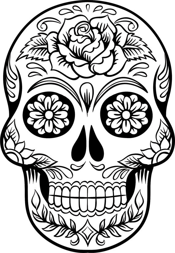 day of the dead coloring page 5 pages day of the dead girls digital coloring book coloring of page coloring dead day the