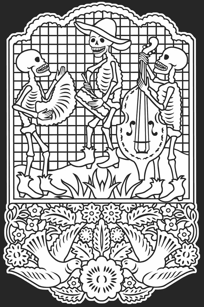 day of the dead coloring page coloring pages skeleton wedding color page day of the dead of coloring dead page day the