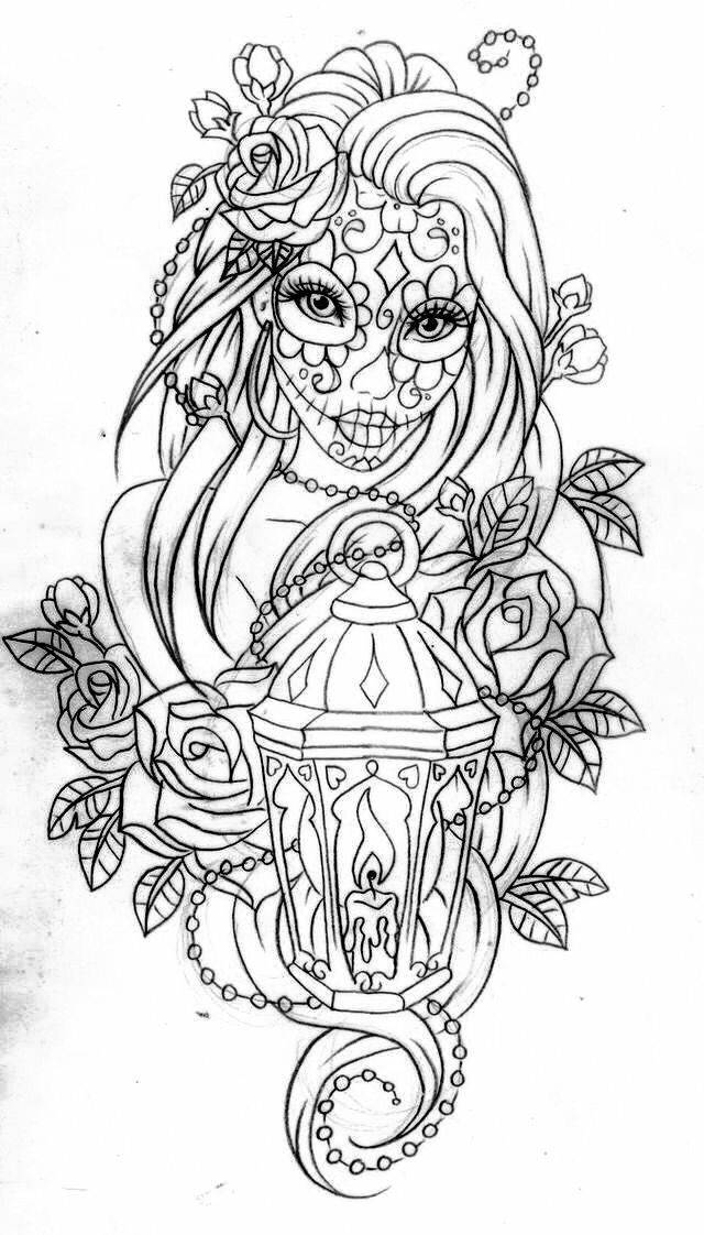 day of the dead coloring page day of the dead 2017 drawing tattoo makeup dead the of page coloring day