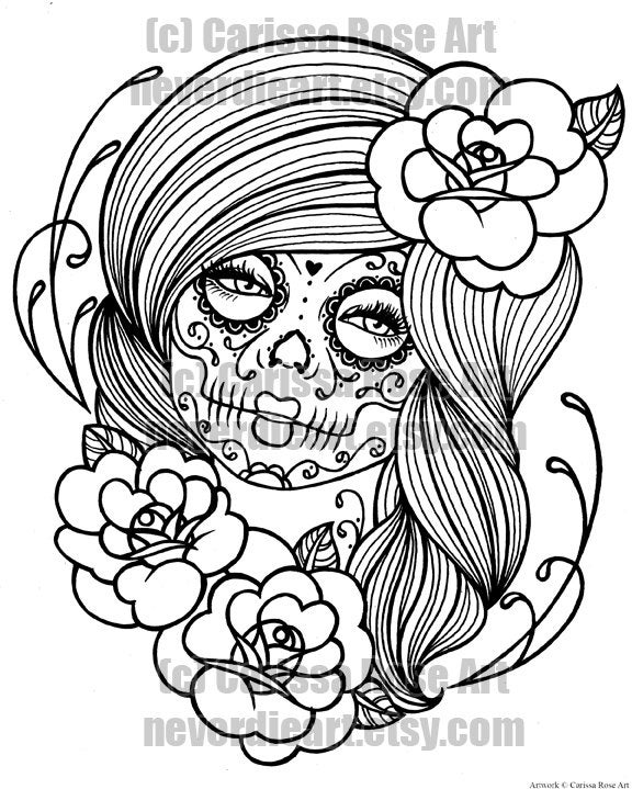 day of the dead coloring page day of the dead adult coloring pages with sugar skulls page coloring dead day of the