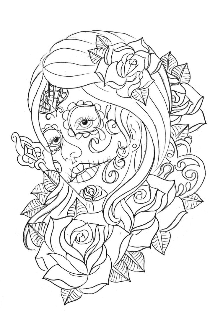 day of the dead coloring page day of the dead coloring page skull coloring pages dead coloring of page day the
