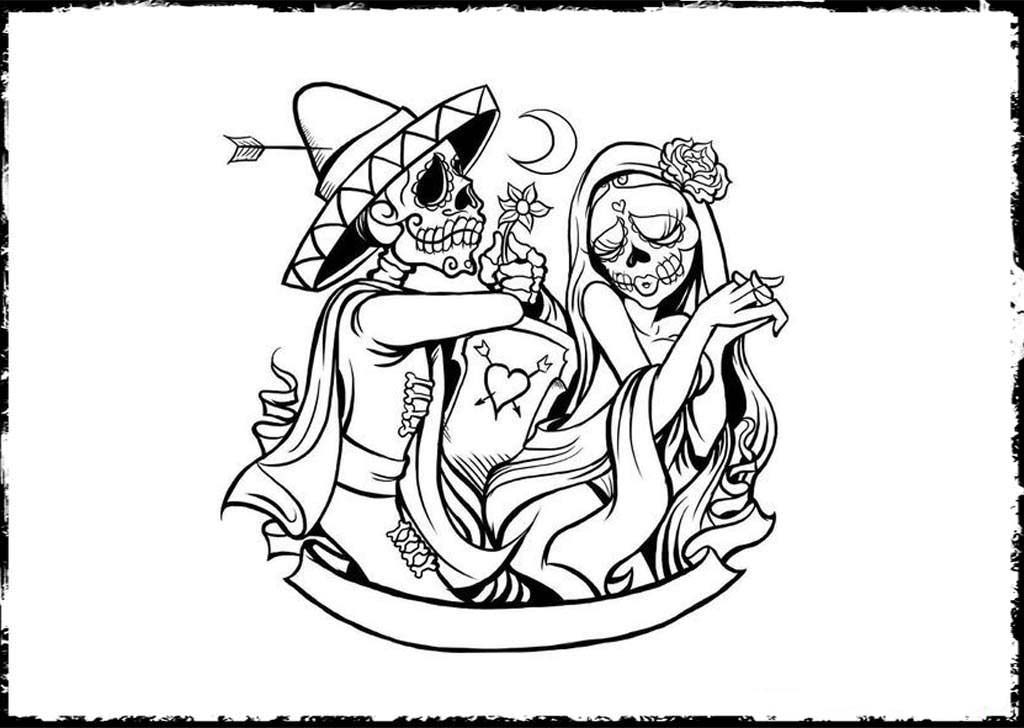 day of the dead coloring page free printable day of the dead coloring book page by the day dead coloring of page