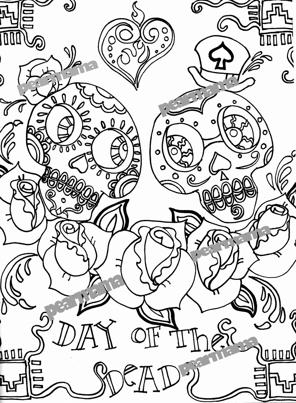 day of the dead coloring page free printable day of the dead coloring pages best coloring page day dead of the