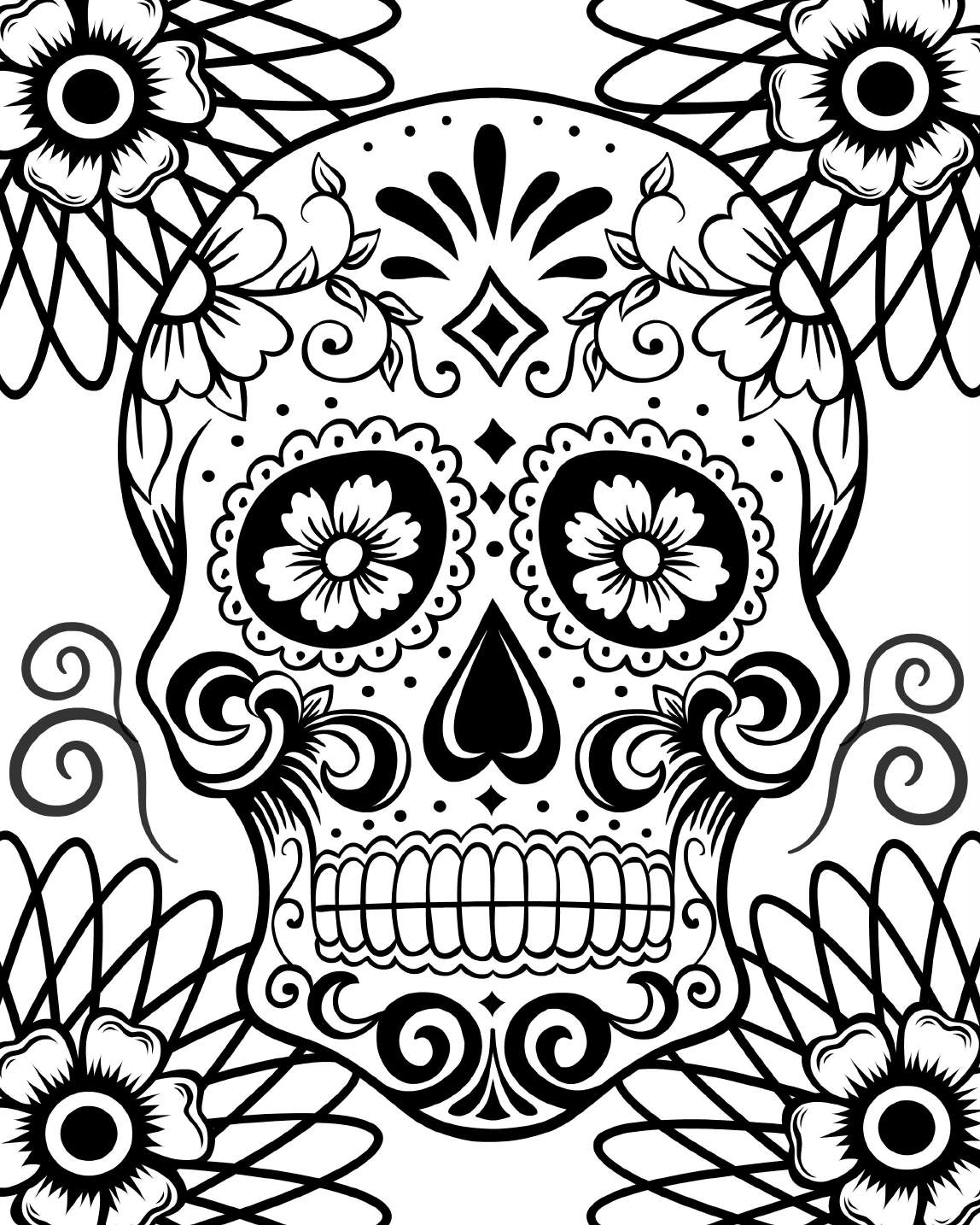 Day of the dead coloring page