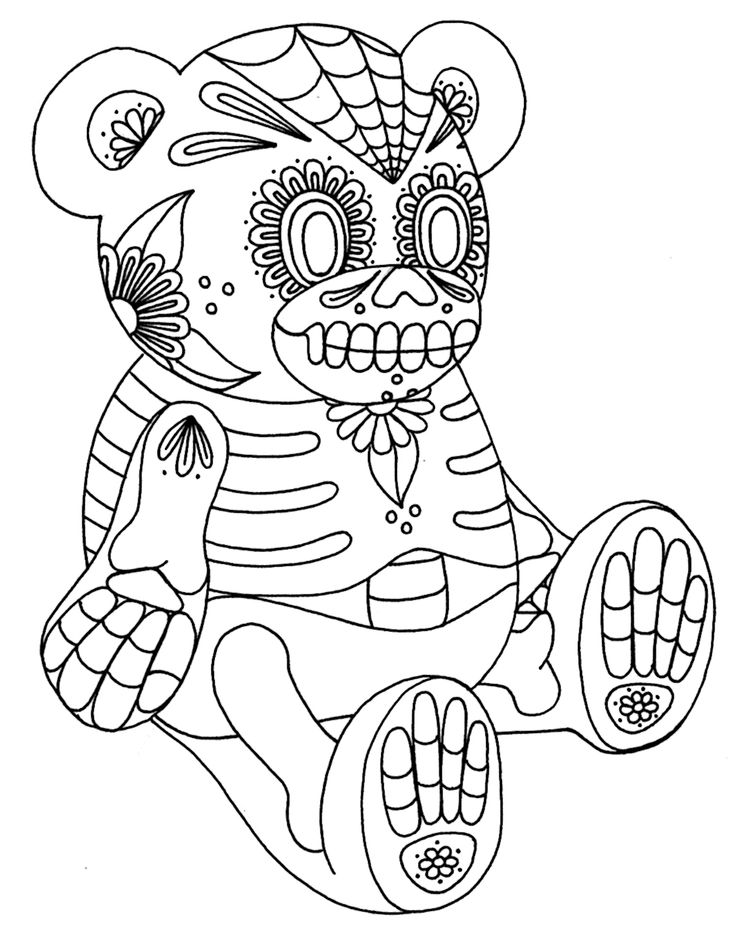 day of the dead coloring page here is one of three day of the dead coloring pages for page the dead day of coloring