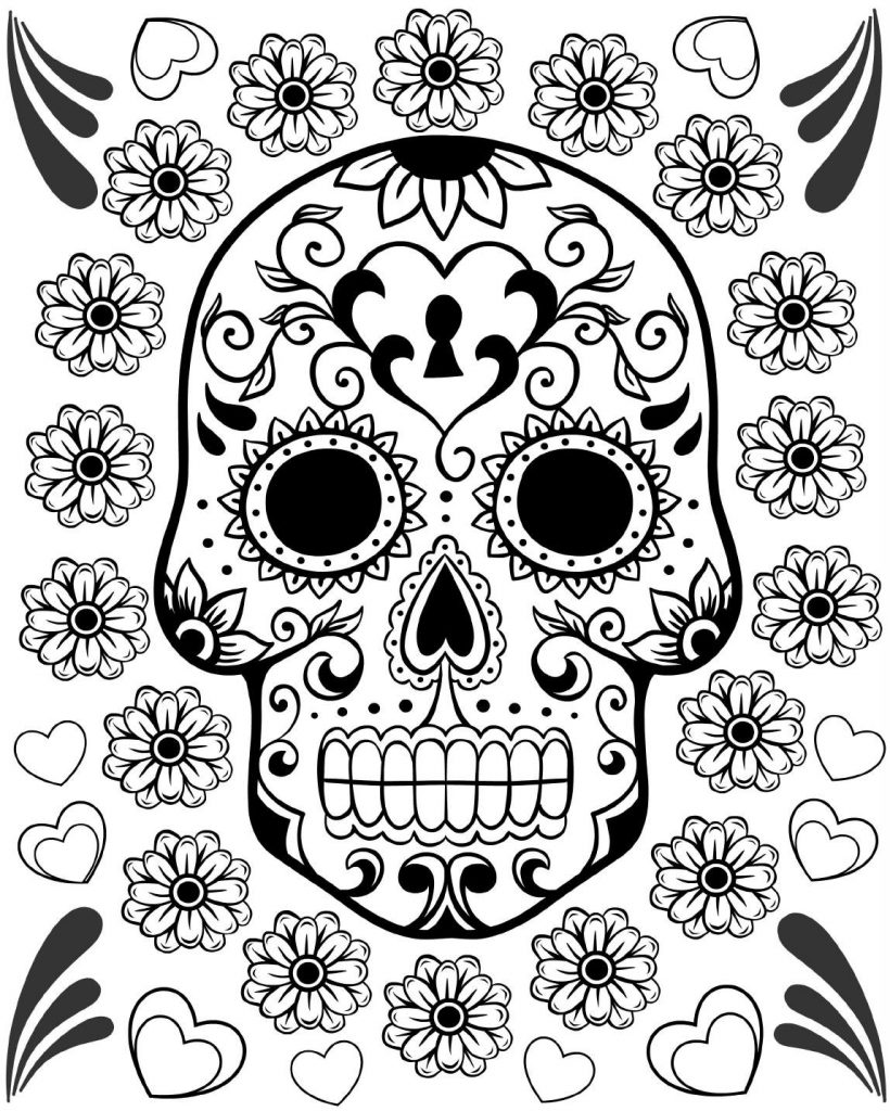day of the dead coloring sheets free printable day of the dead coloring pages best day the dead coloring sheets of