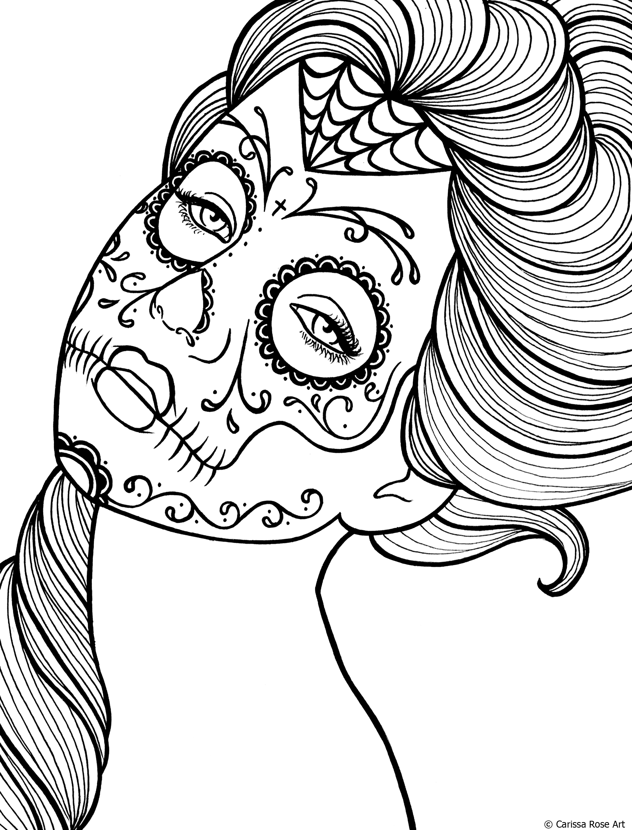 day of the dead coloring sheets free printable day of the dead coloring pages best dead the of coloring day sheets