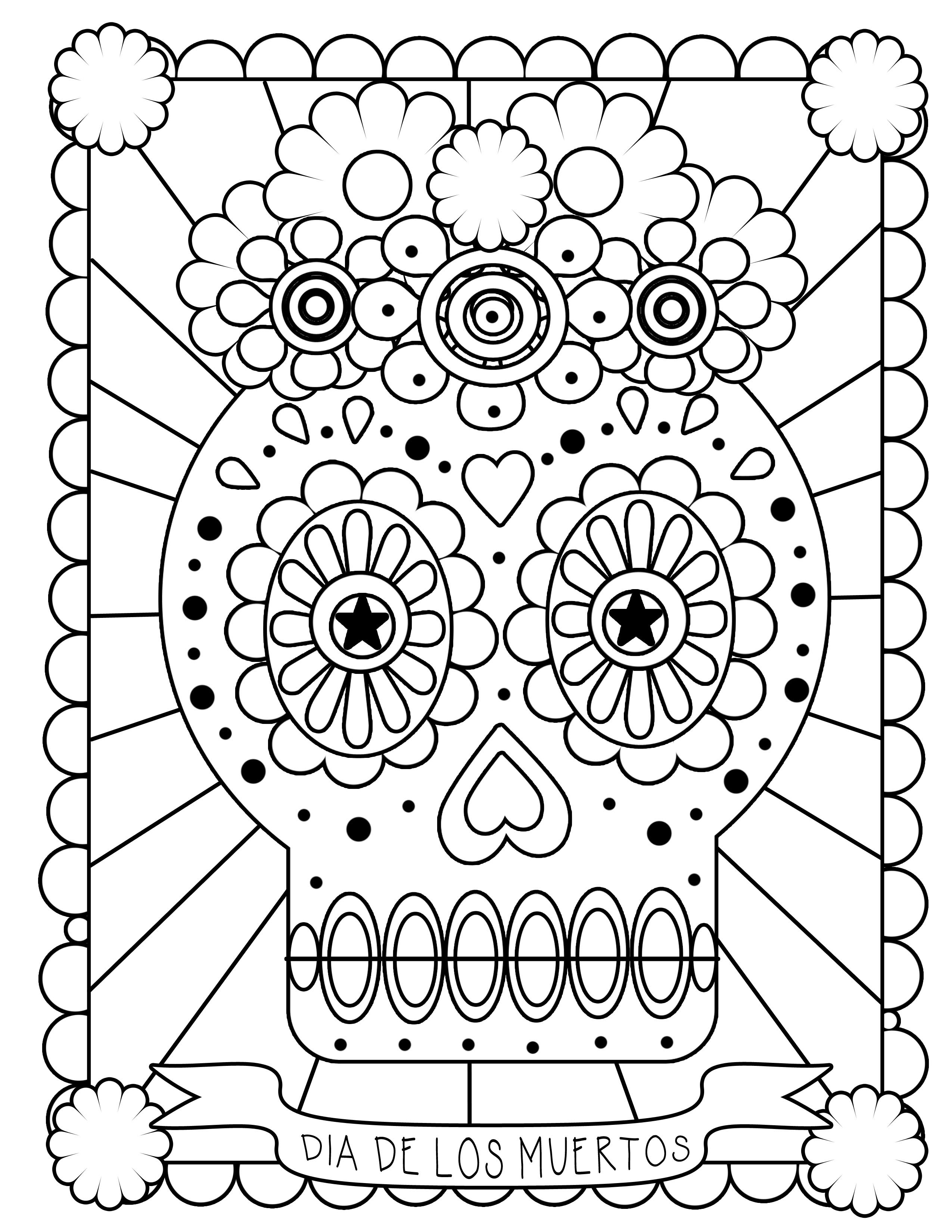 day of the dead coloring sheets items similar to day of the dead girl coloring page the coloring sheets day dead of