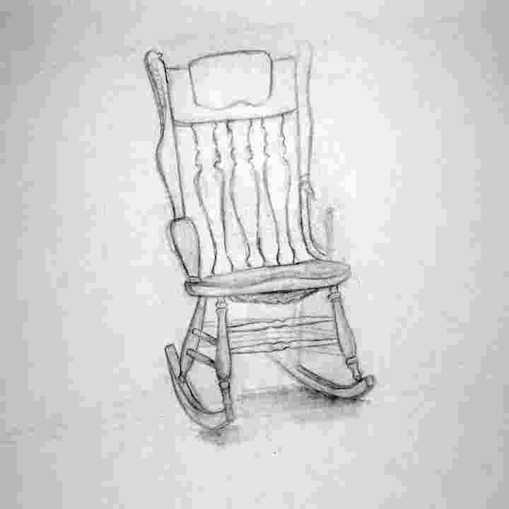 how to draw a rocking chair byuh drawing rocking chair 1