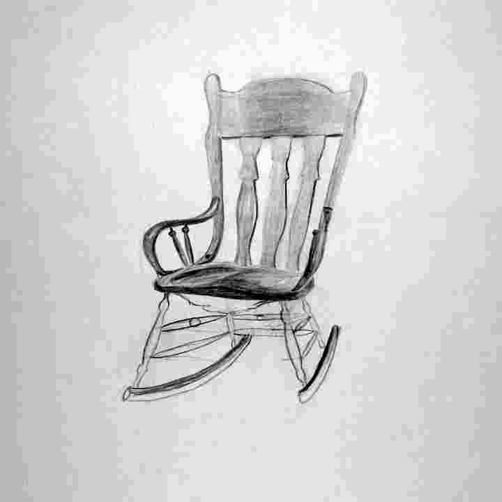 how to draw a rocking chair byuh drawing rocking chair 2