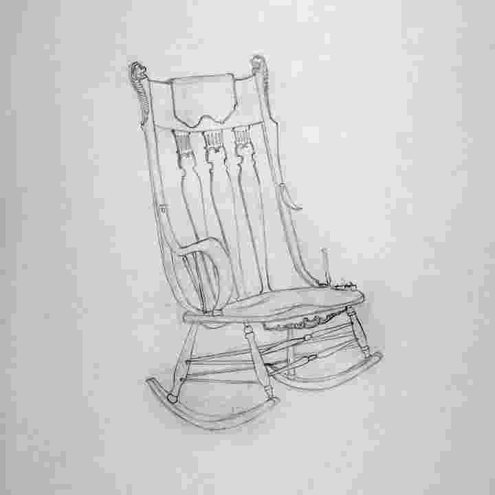 how to draw a rocking chair byuh drawing rocking chair 4