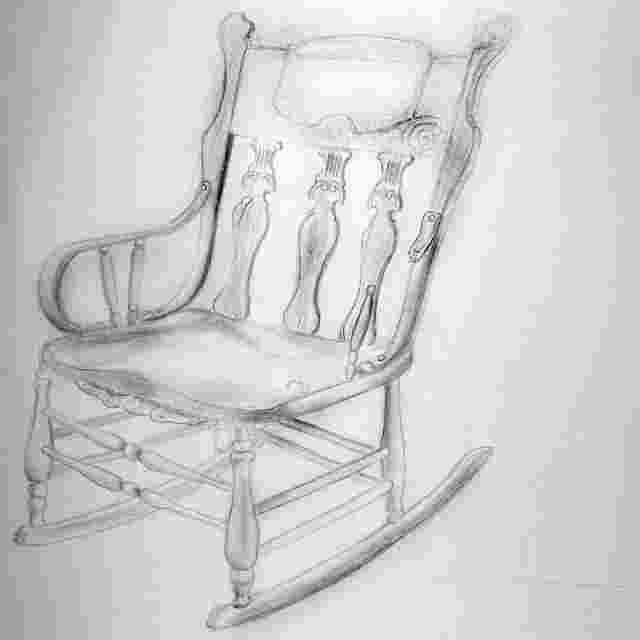 how to draw a rocking chair byuh drawing rocking chair 5
