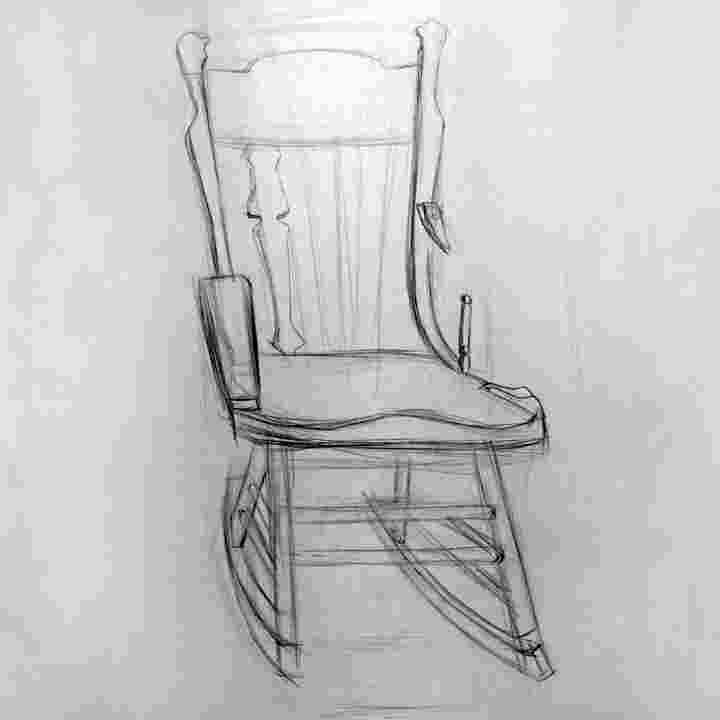 how to draw a rocking chair byuh drawing rocking chair drawing 1